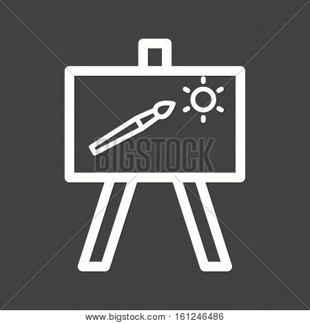 Painting, canvass, art icon vector image. Can also be used for museum. Suitable for mobile apps, web apps and print media.