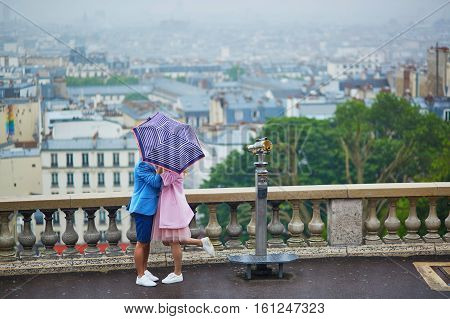Couple On Montmartre In Paris, France
