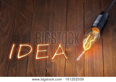 Creative Idea.concept Of Idea And Innovation With Lamp.