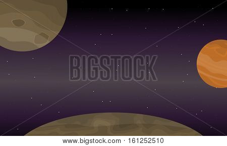 Illustration of space planets collection stock vector art