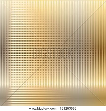 Metal mesh techno background. Gold, bronze, copper grid background. Vector illustration