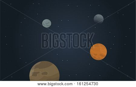 Vector art of space beautiful landscape collection stock