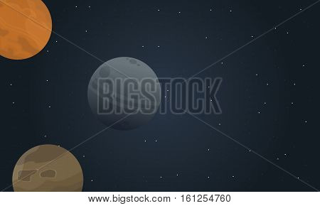 Vector of outer space landscape collection stock