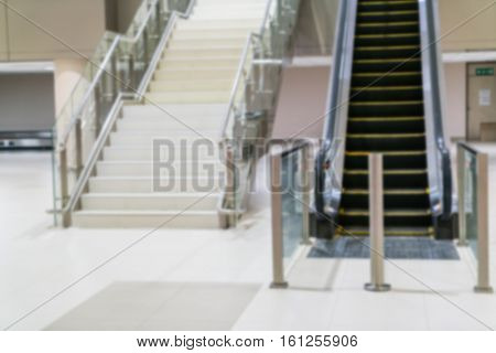Abstract blur Escalator steps