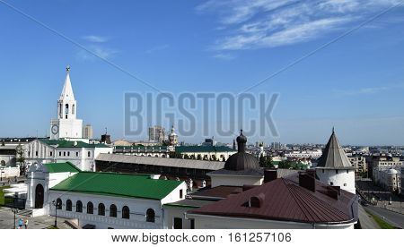 Panoramic views of Kazan and territory of the Kazan Kremlin. Tatarstan, Russia 25 July 2016