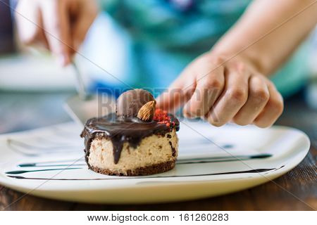Confectioner Make Cake Presentation.