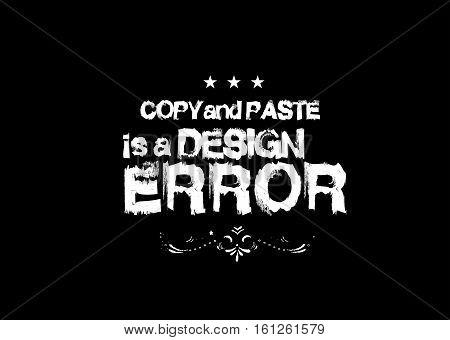copy paste is a design error icon