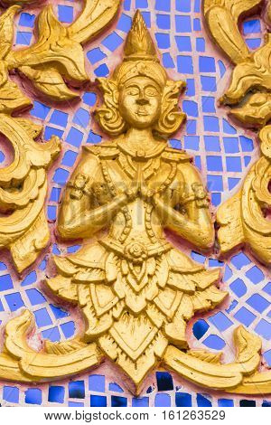 angel and traditional , Thai style art