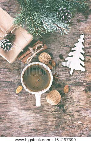 Winter, New Year, Christmas Still Life.