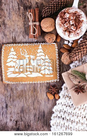 Gingerbread With  A Winter Landscape