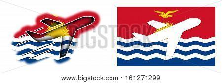 Nation Flag - Airplane Isolated - Kiribati
