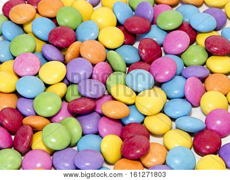 Bright colorful sweet candy close up background