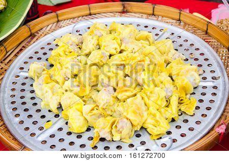 dim sum in Thailand market food background