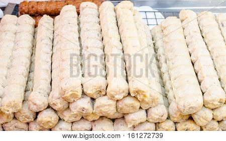 Jock fried chicken in Thailand market food background