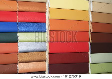 Color guide of leather close up for background