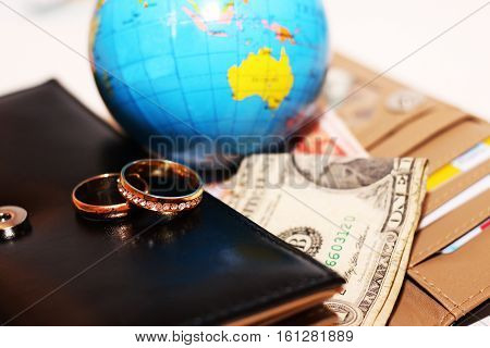 honeymoon trip, honeymoon, wedding rings, love and happy
