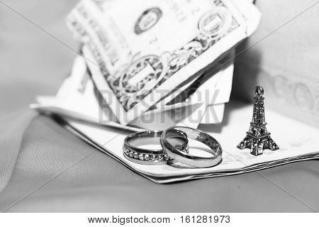honeymoon trip, honeymoon, Paris travel, golden wedding rings