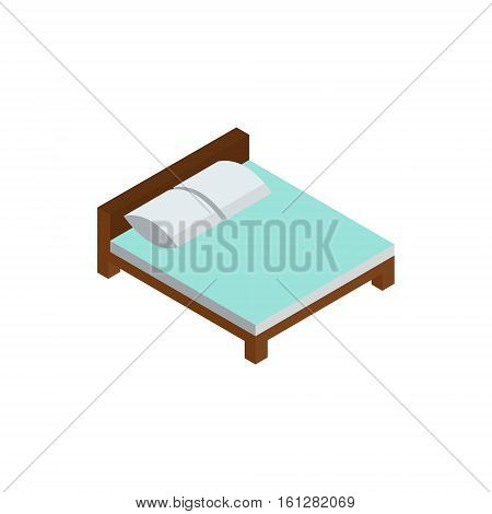 330207 Bed Isometric Icon Or Logo For Web Design