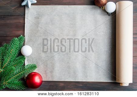 Blank Note For Recipes Of Christmas Cakes. Preparation Gingerbread Cookie