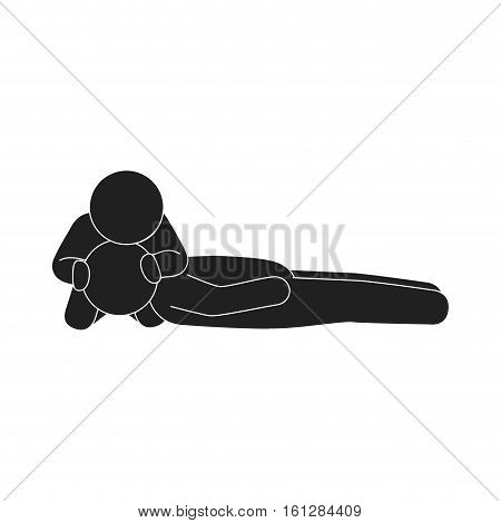 human silhouette doing resuscitation vector illustration design