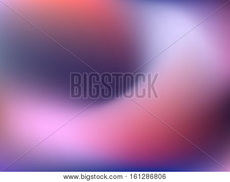 Abstract horizontal blur gradient background with trend navy, pink, rose, ultramarine and blue colors for deign concepts, wallpapers, web, presentations, prints. Album orientation. Vector illustration