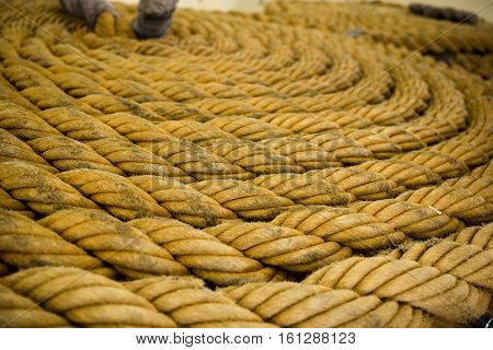 Twisted natural fibre rope