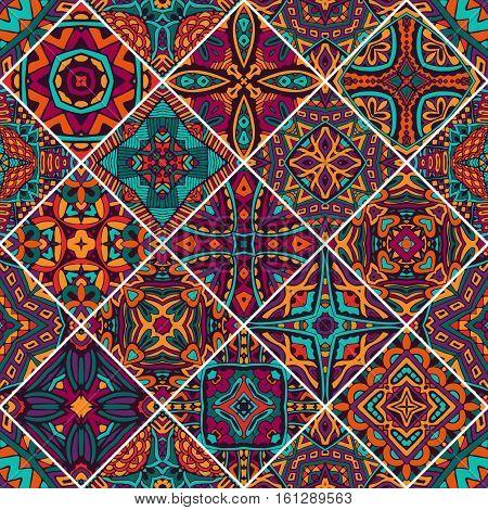 set of seamless pattern. Vintage decorative elements. Oriental pattern, vector illustration. African, Aztec, Mayan, Indian, Turkish, Pakistan, Chinese, Moroccan, Ottoman motifs
