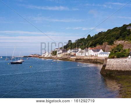 View of Aberdovey Gwynedd Wales. Aberdovey is a beautiful little village on the sea at the southern tip of the Snowdonia National Park. Despite its history as a shipping village in the 19th century the Aberdovey of today is a picturesque holiday destinati