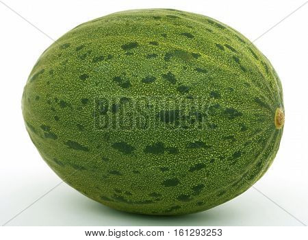 Healthy fruit melon isolated on white .