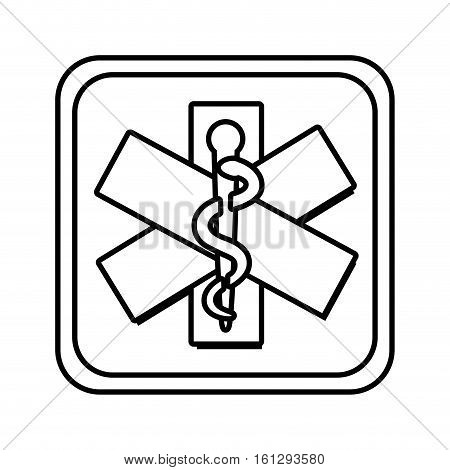 caduceus sign isolated icon vector illustration design
