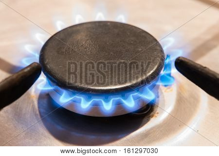 Burning Gas Ring Stove On The Stove