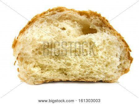 Sweet-scented bread isolated on a white background