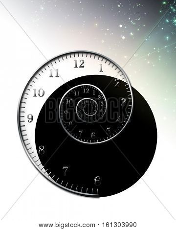 spiral_for_clock  3D Render