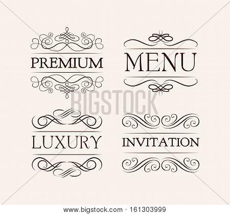 Vintage and filigree decoration. menu, luxury, premium invitation Vector Illustration