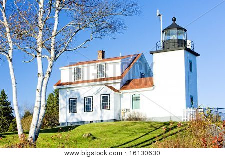 lighthouse Fort Point Light, Stockton Springs, Maine, USA
