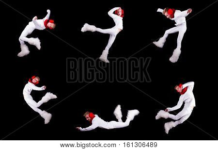 Collection Of Christmas Elf Acrobat