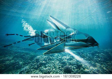 Ufo Under Water Side