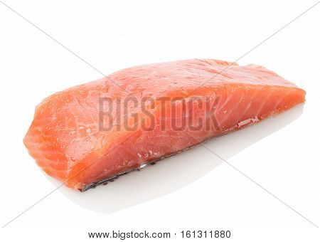 Red fish fillet isolated on a white background