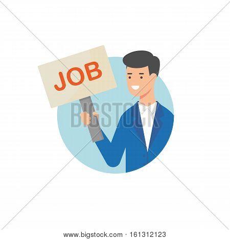Job vacancy vector illustration modern flat style