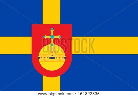 Flag of Uppsala County is a county or län on the eastern coast of Sweden