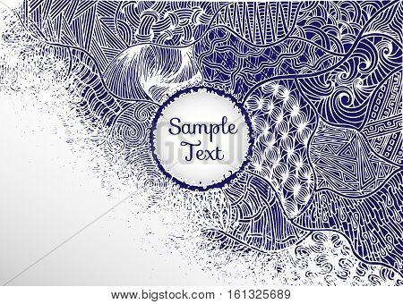 Decorative background with flourishes background with flourishes, banner with text