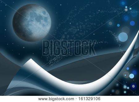 Abstract space stars planets moon background as a consept of new page in cosmic researches