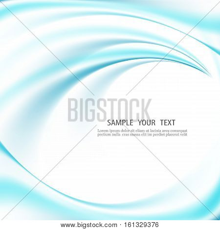 Abstract light vector background Blue smooth curved lines or waves