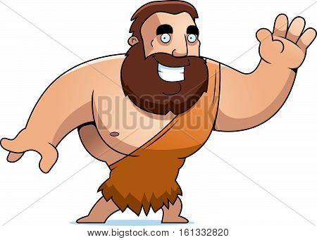 Cartoon Barbarian Waving
