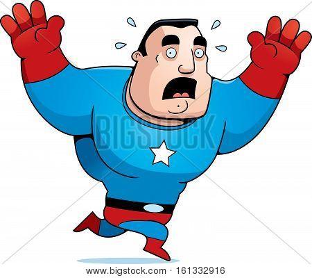 Cartoon Superhero Scared