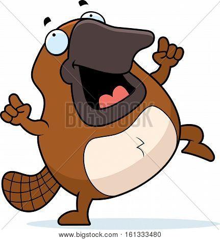 Cartoon Platypus Dancing
