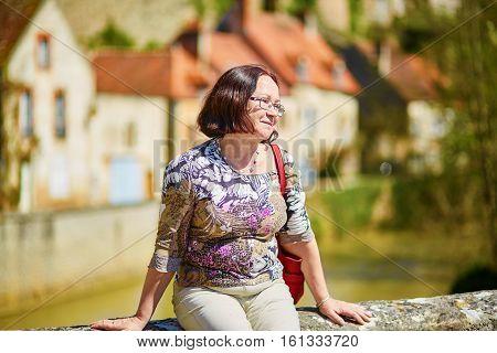 Beautiful Middle Aged Woman In Semur-en-auxois