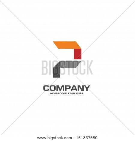 Creative letter P icon abstract logo design.P alphabet symbol.Corporate business and industrial logotype symbol.Vector illustration