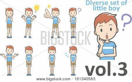 Diverse Set Of Little Boy , Eps10 Vector Format Vol.3