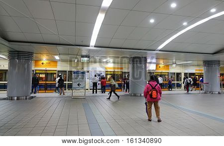 People At The Subway Station In Taipei, Taiwan